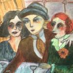 N° 10 Trois copains au café
