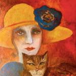 Blue flowered hat