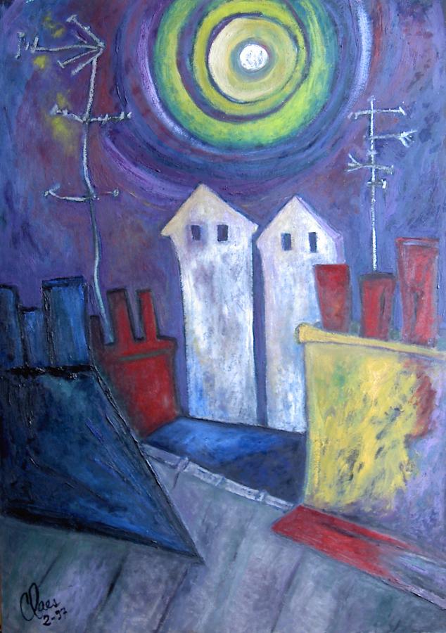 Clair de lune sur les toits