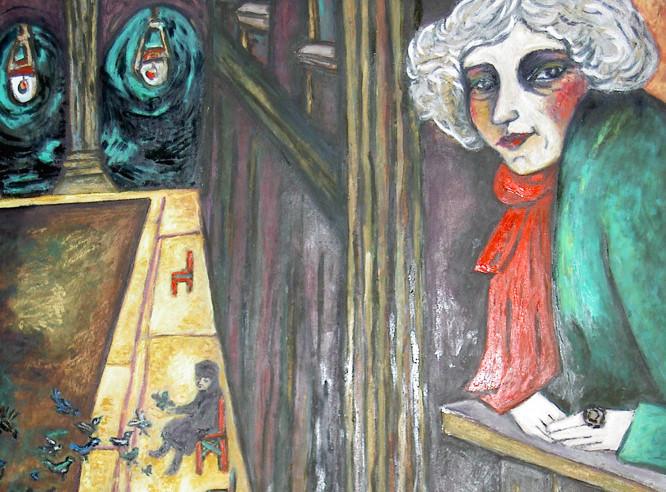 Colette à sa fenêtre