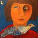 Femme à l'oiseau