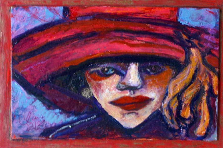 Femme au grand chapeau