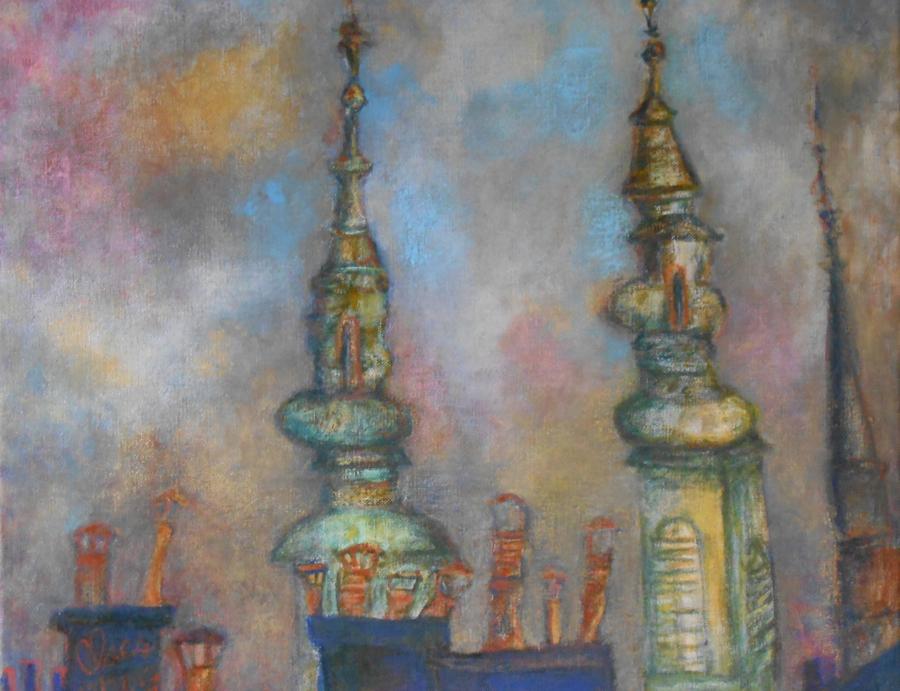 Flèches d'église à Buda