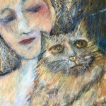 Genica avec un chat