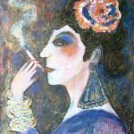 Genica avec une cigarette