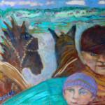 La charrette aux chevaux