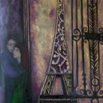 Les amants devant la tour Eiffel