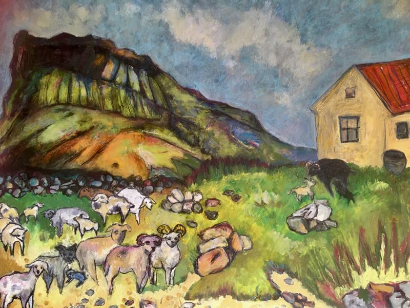 Moutons sur la plage