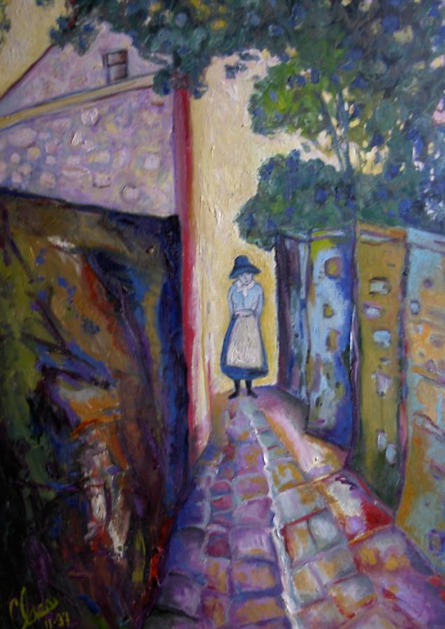 Une ruelle du Montmartre de jadis